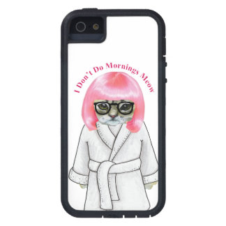 I Don't Do Mornings, Funny Grumpy Cat Picture iPhone 5 Cover