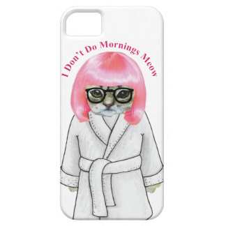 I Don't Do Mornings, Funny Grumpy Cat Picture iPhone SE/5/5s Case
