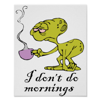 I don't do Mornings Poster