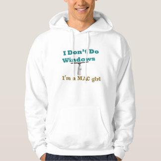 I don't do windows hooded sweatshirt