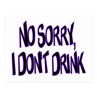 I Don't Drink Postcard