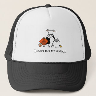 I dont eat my friends trucker hat