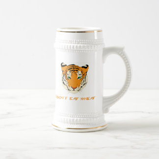 I Don't Eat Wheat 18 Oz Beer Stein