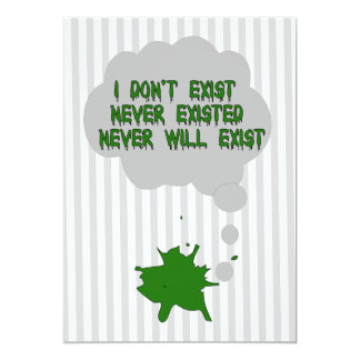 I Don't Exist Either Card