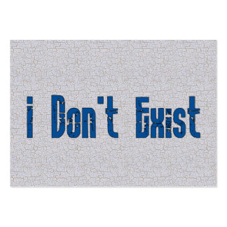 I Don't Exist Large Business Card