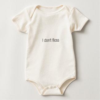 I don't floss baby bodysuit