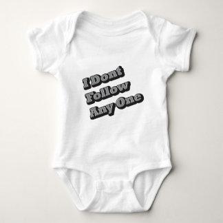 I Dont Follow Any One Baby Bodysuit