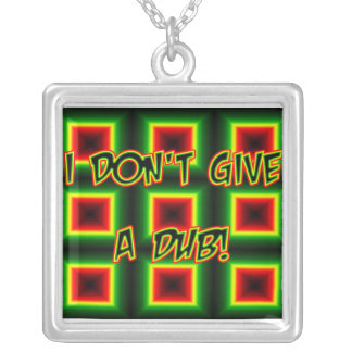 I don't give a DUB Square Pendant Necklace