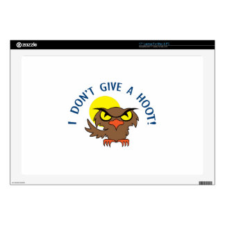 I DONT GIVE A HOOT SKINS FOR LAPTOPS