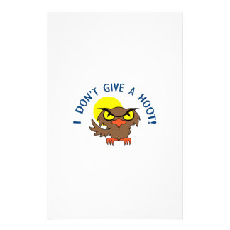 I DONT GIVE A HOOT STATIONERY