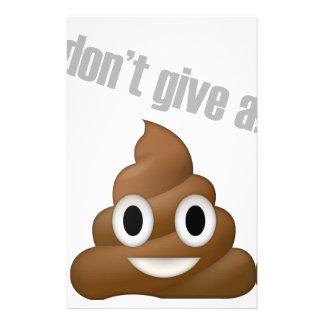 i dont give a poop emoji stationery