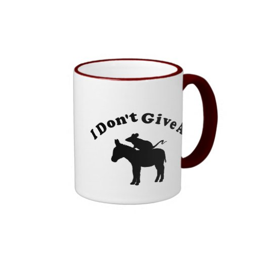 I Don't Give A Rat's Ass Ringer Coffee Mug