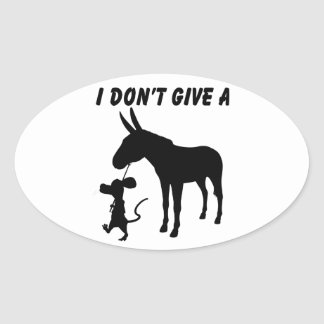 I Don't Give A Rats Stickers