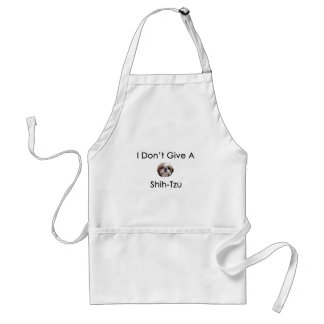 I Don't Give A Shih Tzu Apron