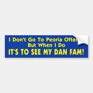 I Don't Go To Peoria Often... Bumper Sticker