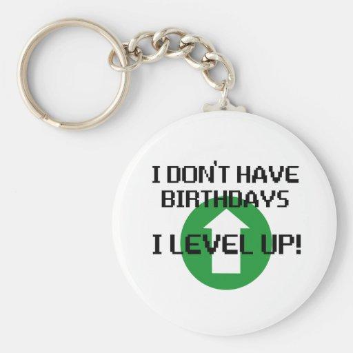 I Don't Have Birthdays... Basic Round Button Keychain