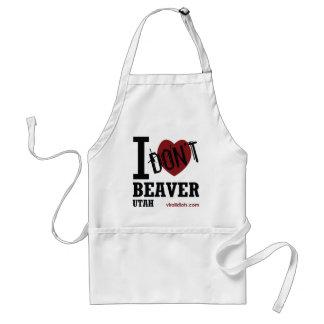 I Don't Heart Beaver, Utah Adult Apron