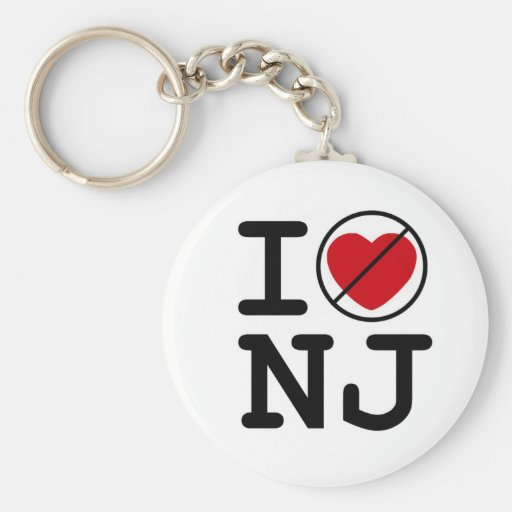 I Don't Heart New Jersey Key Chains