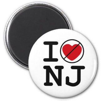 I Don't Heart New Jersey 2 Inch Round Magnet