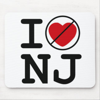 I Don't Heart New Jersey Mouse Pad