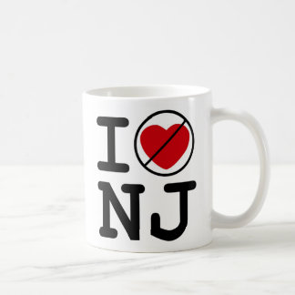 I Don't Heart New Jersey Classic White Coffee Mug