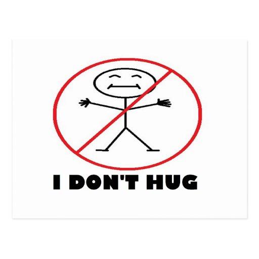 I Don't Hug Postcard