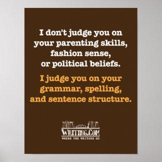 I Don't Judge. Poster