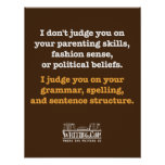 I Don't Judge. Posters