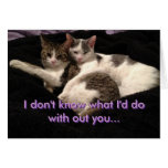 """""""I don't know"""" Abbie and Momo Greeting Card"""