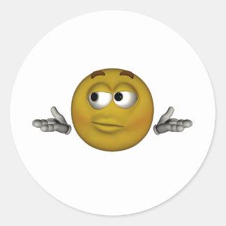 I dont know classic round sticker