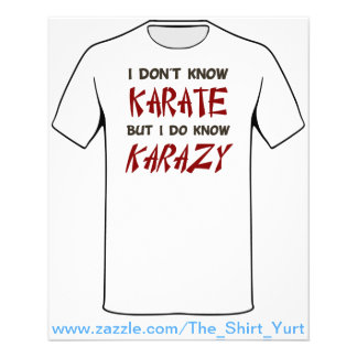 I Don't Know Karate But I Do Know Crazy Flyer