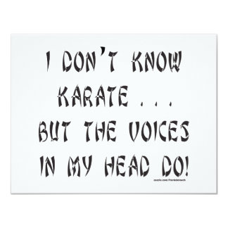 I DON'T KNOW KARATE T-SHIRTS AND GIFTS PERSONALIZED INVITES