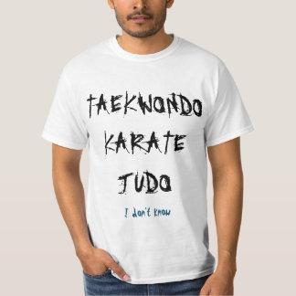 I don't know taekwando T-Shirt