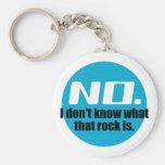 I Don't Know What That Rock Is (Blue) Key Chains