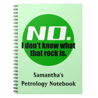 I Don't Know What That Rock Is (Green) Note Book