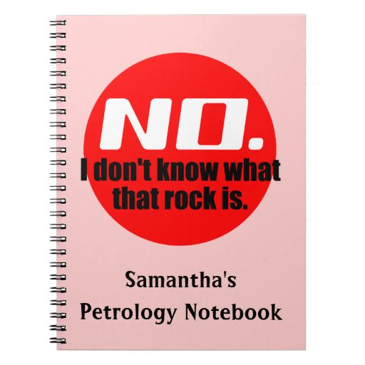 I Don't Know What That Rock Is (Red) Note Books