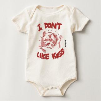 i dont like kiss funny cartoon sweet baby baby bodysuit