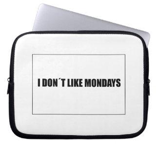 I dont like mondays laptop sleeve