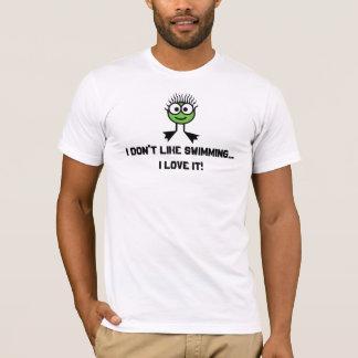 I Don't Like Swimming.. - Green Swim Character T-Shirt