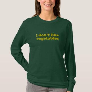 I Don't Like Vegetables shirt (dark)