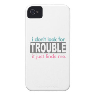 I Dont Look For Trouble Case-Mate iPhone 4 Cases