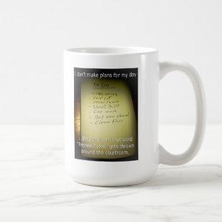 I Don't Make Plans Classic White Coffee Mug