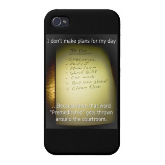 I Don't Make Plans iPhone 4/4S Covers