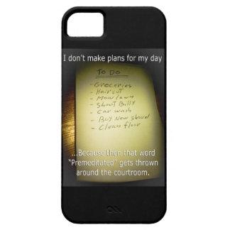 I Don't Make Plans iPhone SE/5/5s Case