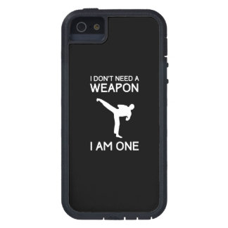 I Dont Need a Weapon iPhone 5 Cover