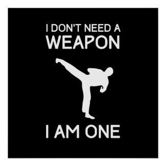 I Dont Need a Weapon Poster