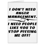 I Don't Need Anger Management Card