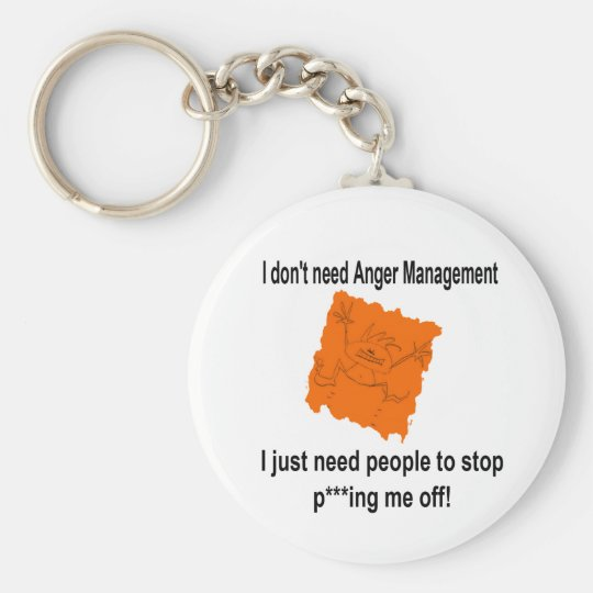 I don't need Anger Management (Red) Keychain