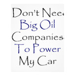 I Don't Need Big Oil Companies To Power My Car Letterhead Template
