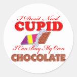 I Don't Need Cupid Classic Round Sticker
